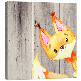 Canvas print  4 Forest Animal Friends - Fox - UtArt