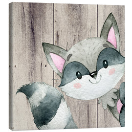 Canvas  4 Friends- Forest animals- Raccoon - UtArt
