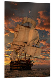 Acrylic print  The HMS victory - Peter Weishaupt