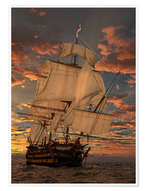 Premium poster  The HMS victory - Peter Weishaupt