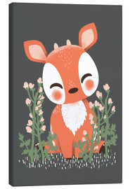 Canvas  Animal friends - The fawn - Kanzi Lue