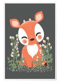 Premium poster  Animal friends - The fawn - Kanzi Lue