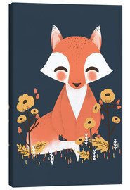 Canvas print  Animal friends - The fox - Kanzi Lue
