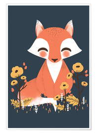 Premium poster Animal friends - The fox