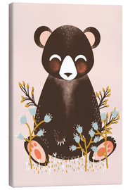 Canvas  Animal friends - The bear pink - Kanzi Lue