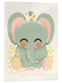 Acrylic print  Animal friends - The elephant - Kanzilue