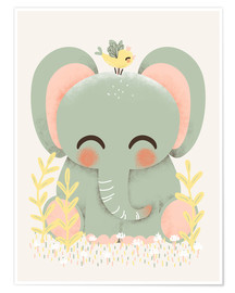 Premium poster Animal friends - The elephant