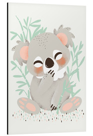 Aluminium print  Animal friends - the koala - Kanzilue