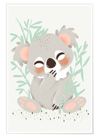 Poster  Animal friends - The koala - Kanzi Lue