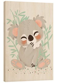 Wood print  Animal friends - the koala - Kanzi Lue