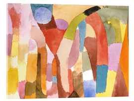 Acrylic print  Movement of Vaulted Chambers - Paul Klee