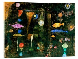Acrylic glass  fish magic - Paul Klee