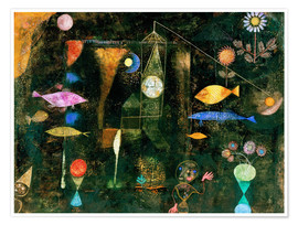 Premium poster  Fish magic - Paul Klee