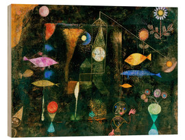 Wood print  Fish magic - Paul Klee