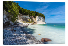 Canvas print  Chalk cliffs on the island Ruegen, Germany - Rico Ködder