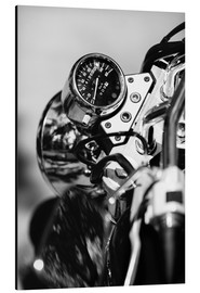 Alu-Dibond  Speedometer of a motorcycle