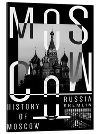 Acrylic print  Moscow city - Typobox