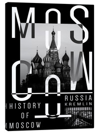 Canvas print  Moscow - Typobox
