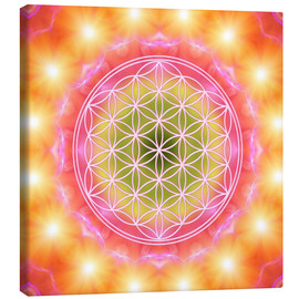 Canvas print  Flower of life - heart energy - Dolphins DreamDesign