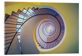 Acrylic print  Staircase in crayon - MUXPIX