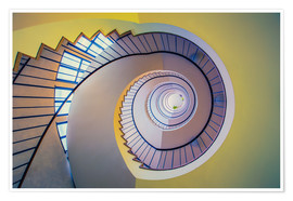 Premium poster Staircase in crayon