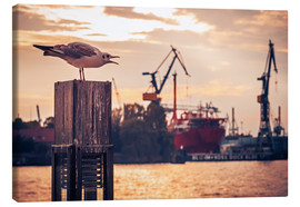 Canvas  Hamburg Harbour - Alexander Voss