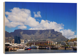 Wood print  Lovely Cape Town, South Africa - wiw