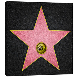 Canvas print  Blank Theater star, Hollywood Boulevard