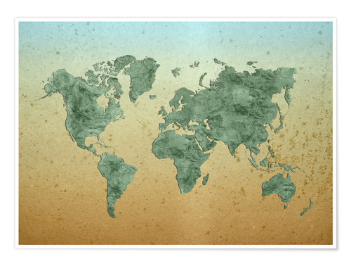 Vintage World Map Posters And Prints Posterlounge Com