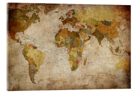 Acrylic print  Vintage World Map
