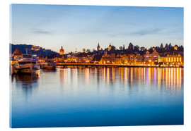 Acrylic print  Lucerne at Lake Lucerne - Dieterich Fotografie