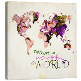 Canvas  What A Wonderful World Map - Mandy Reinmuth