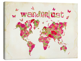 Canvas print  Wanderlust Rosa - Mandy Reinmuth
