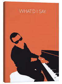 Canvas  No003 MY Ray Charles Minimal Music poster - chungkong