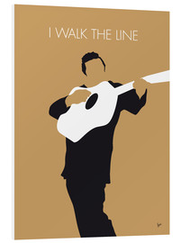 Foam board print  Johnny Cash, I walk the line - chungkong