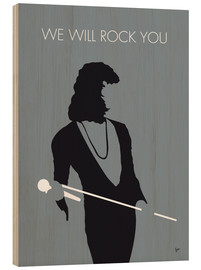 Wood print  Queen, We will rock you - chungkong