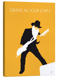Canvas  No044 MY ZZ TOP Minimal Music poster - chungkong