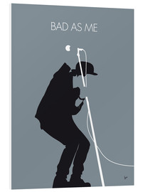 Foam board print  Tom Waits, Bad as me - chungkong
