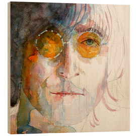Wood print  John Winston Lennon - Paul Lovering