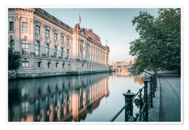 Premium poster Bode Museum Reflection in the River Spree