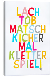 Canvas print  Laugh and play (German) - Ohkimiko