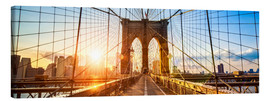 Canvas print  Brooklyn Bridge in New York City, USA - Jan Christopher Becke