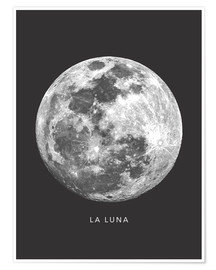 Premium poster  La Luna - the moon - Finlay and Noa