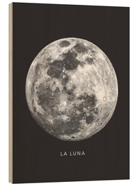 Wood print  La Luna - the moon - Finlay and Noa