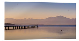 Acrylic print  Dawn at Lake Chiemsee - Martin Wasilewski