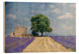 Wood print  Provence picturesque - Joachim G. Pinkawa