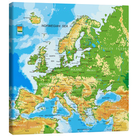 Canvas print  Map of Europe