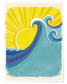 Premium poster  Sea waves in the sun