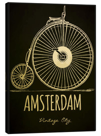 Canvas print  Amsterdam - Typobox