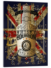 Acrylic print  bottle of whiskey